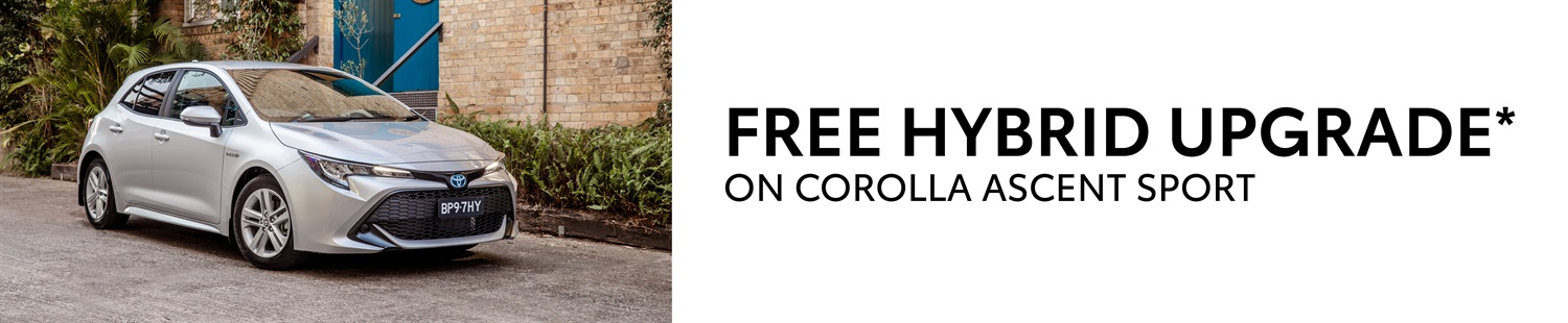 FREE HYBRID UPGRADE ON COROLLA ASCENT SPORT